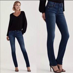 7 For All Mankind Straight Leg Dark Wash Y2K Jeans